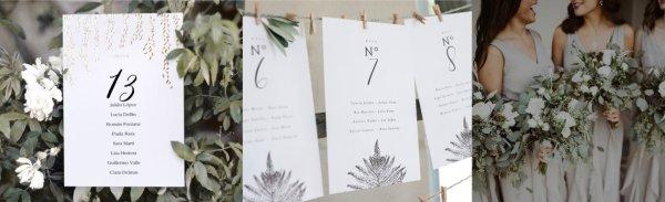 Organiza las mesas de invitados con diseños originales.