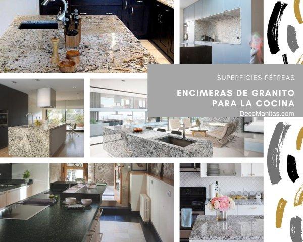 Modernas encimeras de granito para la cocina: 6 ideas geniales