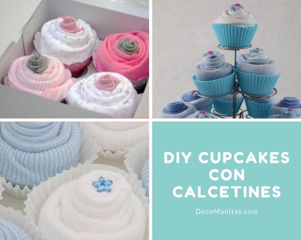 Manualidades con calcetines: cupcakes con leotardos