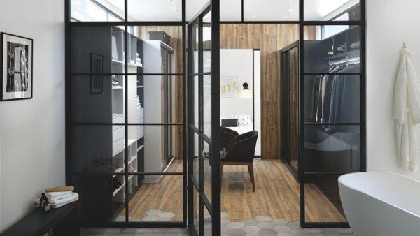Vestidor abierto con interior integrado de Schmidt