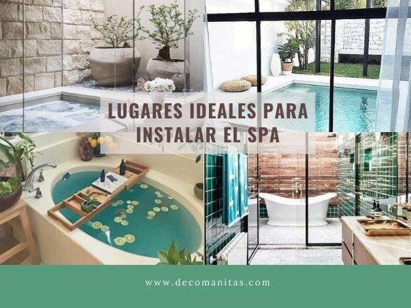 Los mejores lugares para instalar un spa en casa.
