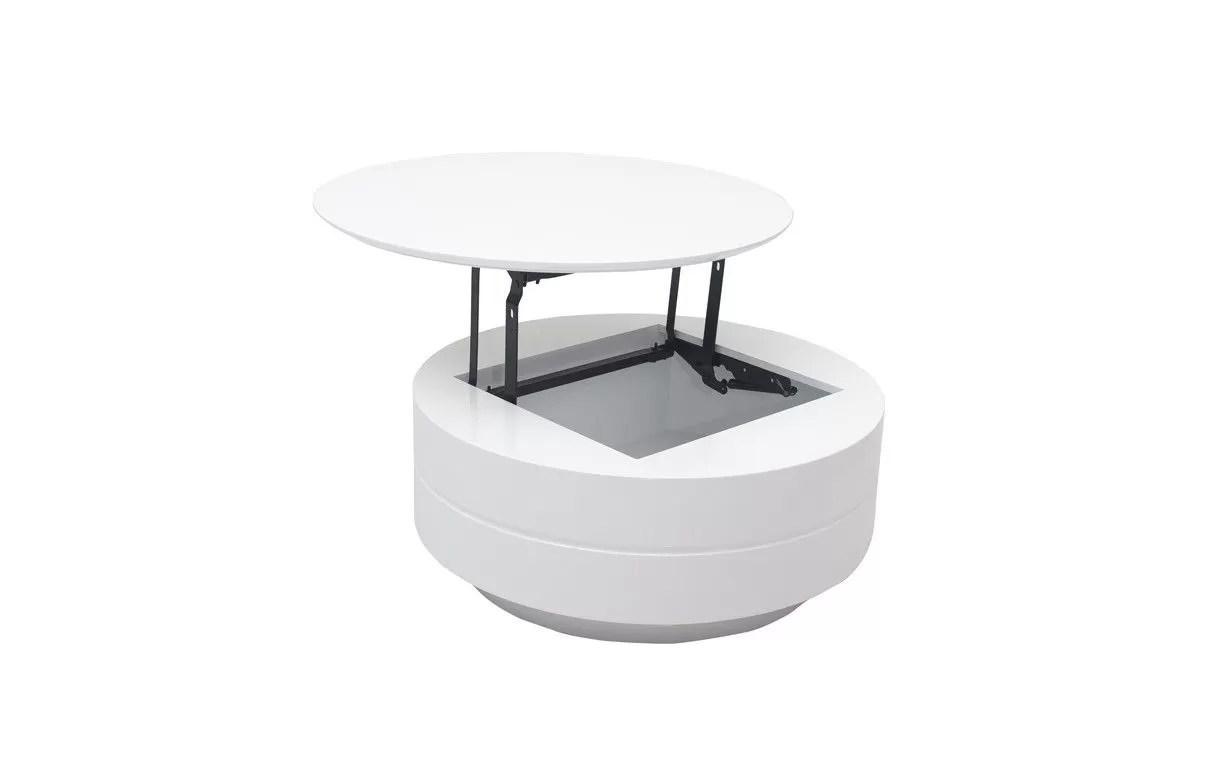 Table Basse Grise Ou Blanche Avec Plateau Relevable Et Coffre Fatosy Decome Store