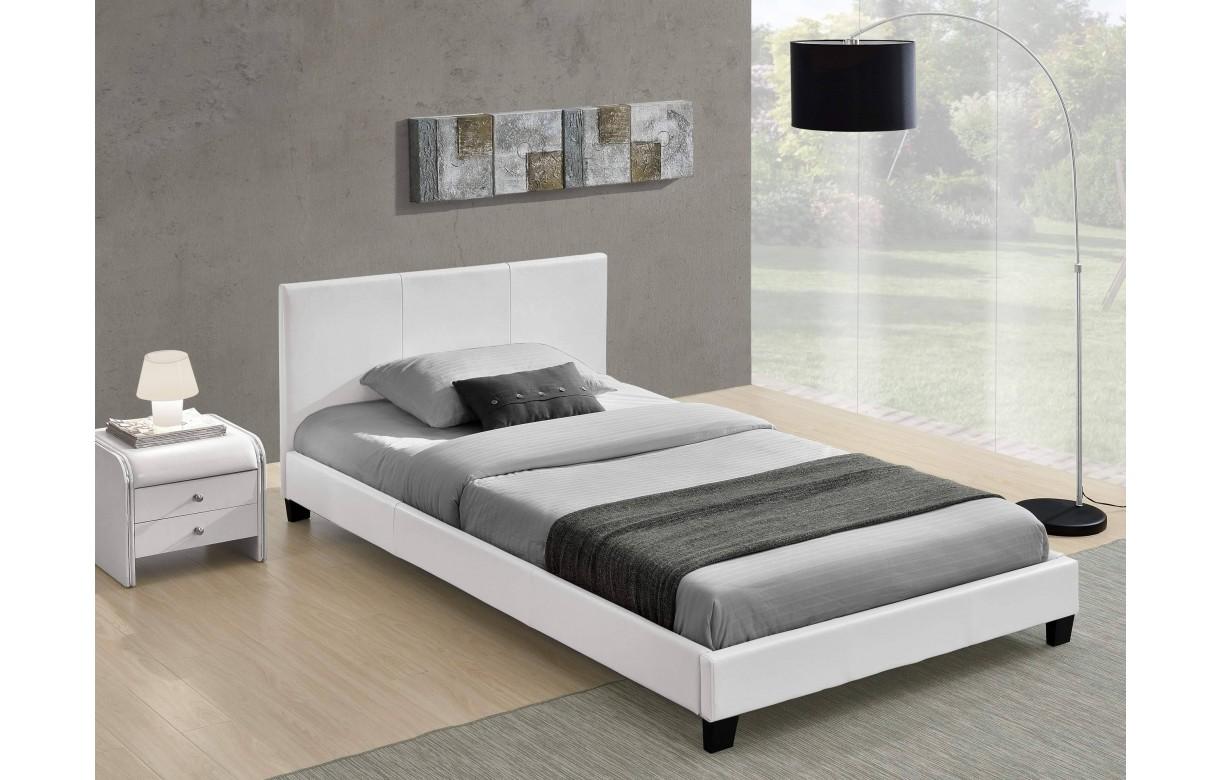 lit double blanc pas cher avec t te de lit 140 ou 160