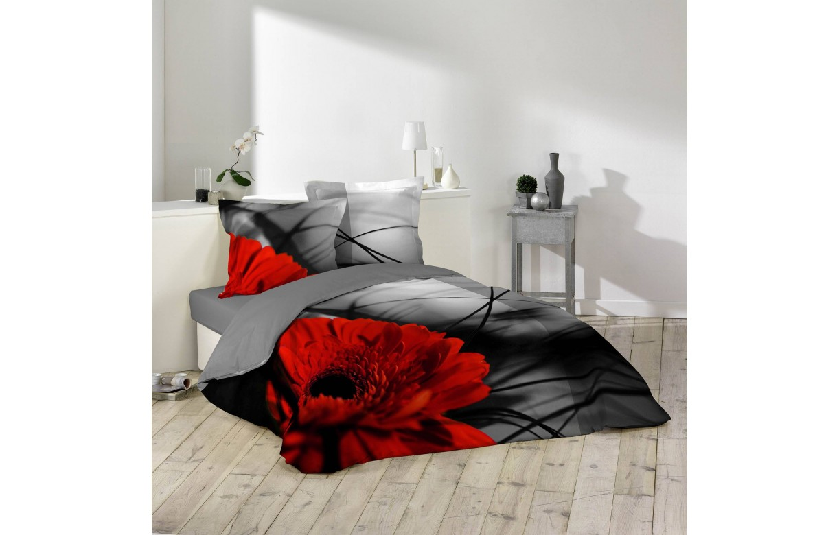 Housse de couette 240 x 260 cm  2 taies Milly  Decome Store