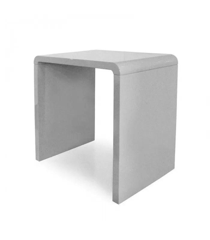 console design laquee taupe gris noir ou blanc 70 cm