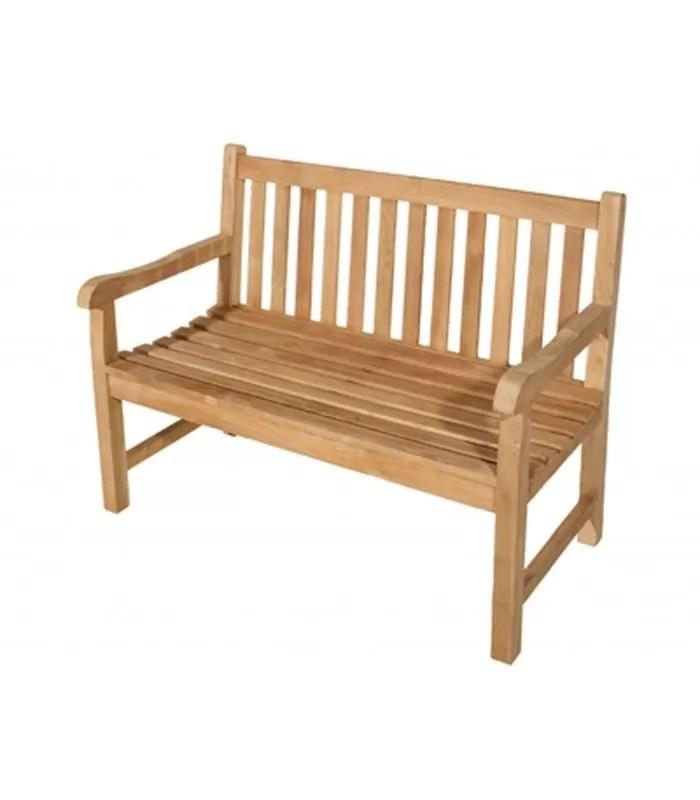 banc de jardin 2 places en bois de teck massif jakarta