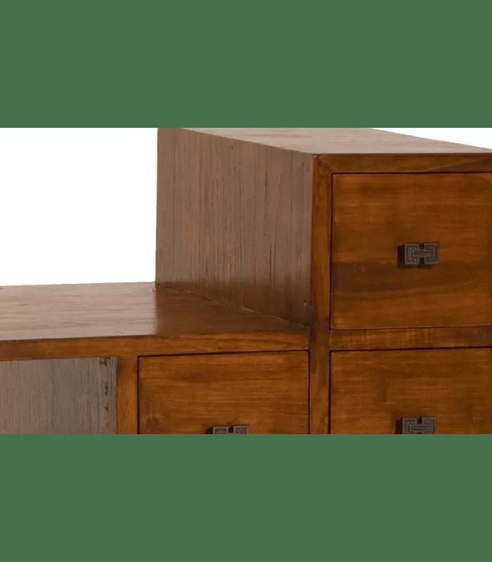 meuble tv escalier bois massif lorie