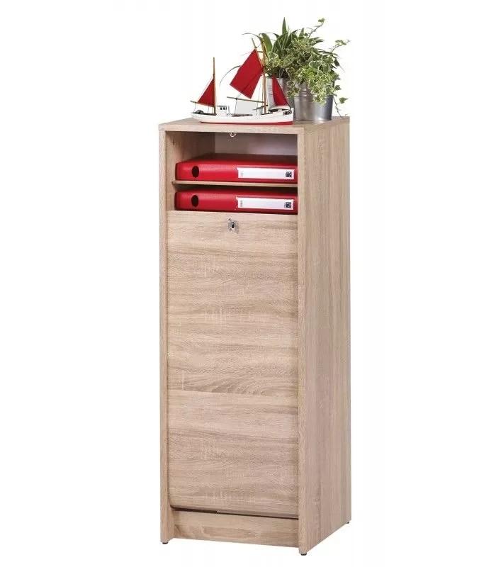 classeur de rangement a rideau en bois 105 cm 3 coloris