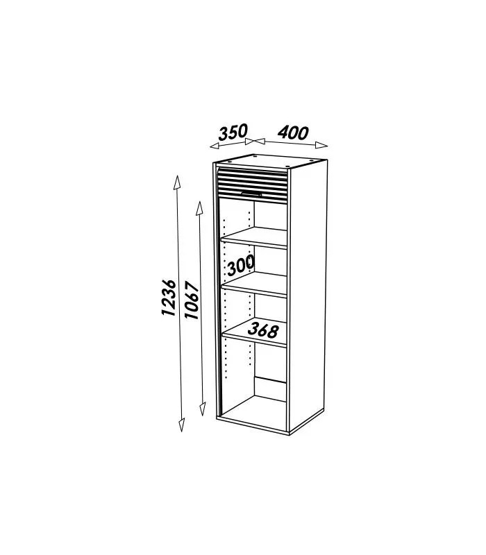 meuble de cuisine aluminium ou blanc avec rangements a rideau deroulant cooky