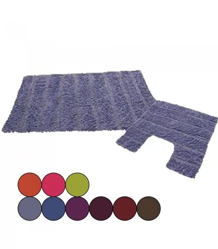 ensemble tapis de salle de bain contour wc 9 coloris