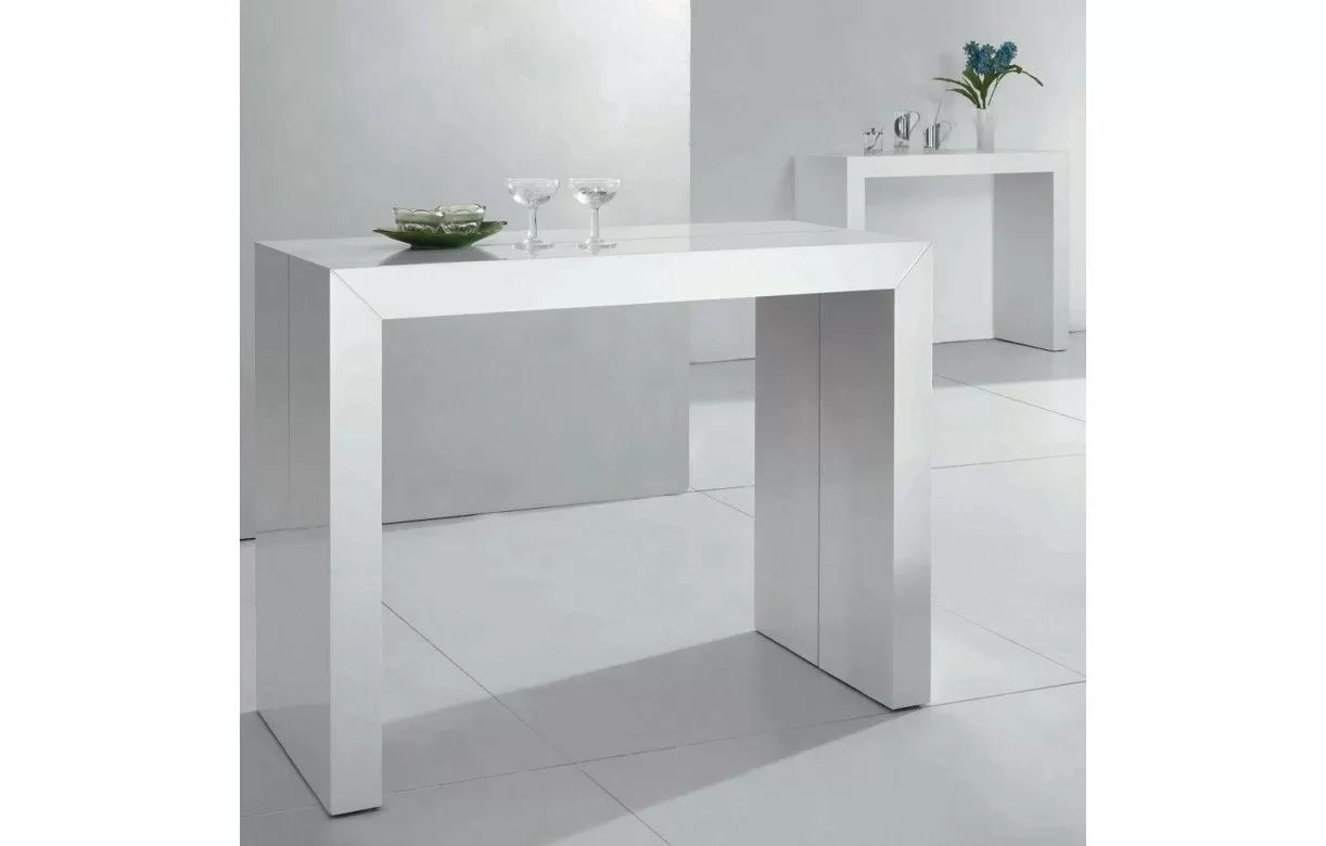 table console extensible laquee 10