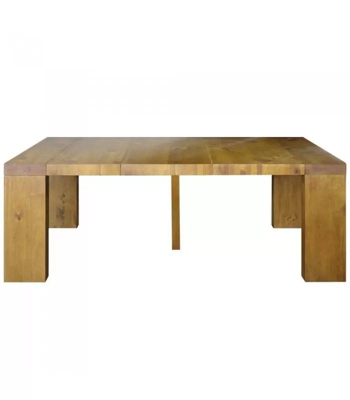table console extensible en bois massif 10 couverts woodini 5 coloris