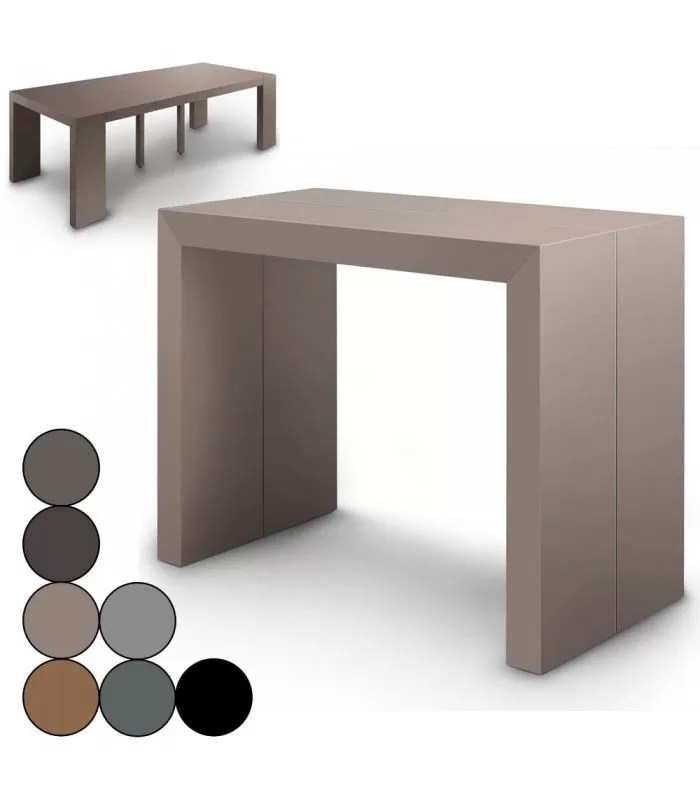 table console extensible effet beton