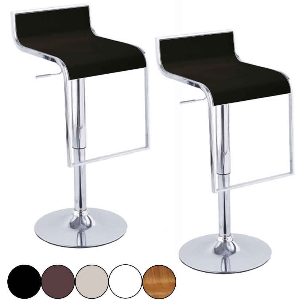 Set De 2 Tabourets De Bar Noir Design Chrome Naxy 5 Coloris Decome Store