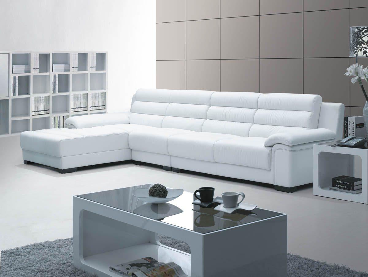 sofas modernos para salas pequenas air dream sofa bed mattress reviews sofá chaiselongue moderno de piel blanca imágenes y fotos