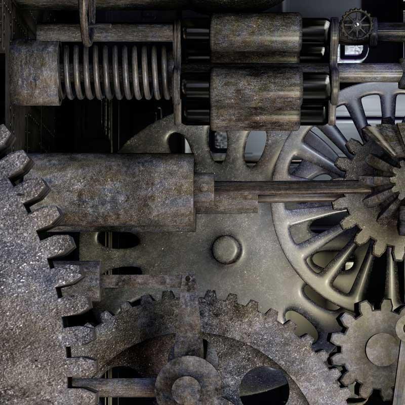 Papier peint style industriel