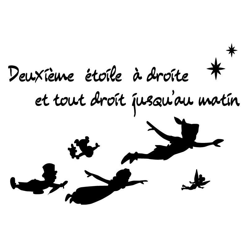 Sticker mural Peter Pan  deuxime toile  Dcomotif