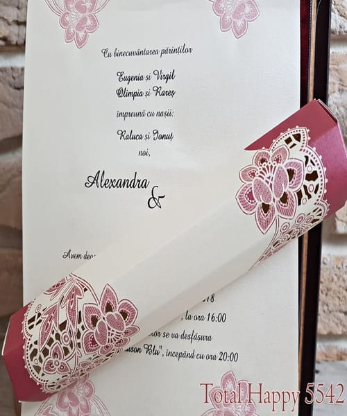 Invitatie de nunta cod 5542 din Catalogul Concept