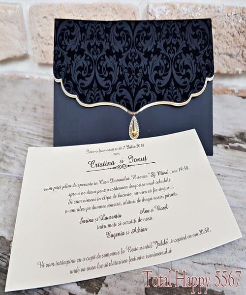 Invitatie de nunta cod 5567 din Catalogul Concept