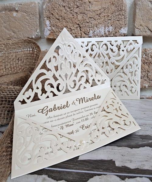Invitatie de nunta cod 2732 din Catalogul Popular