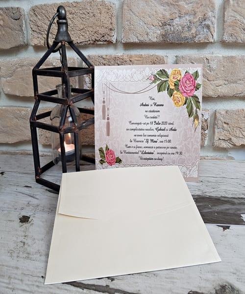 Invitatie de nunta cod 2744 din Catalogul Popular