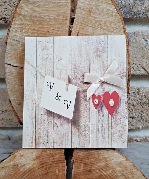 Invitatie de nunta cod 2755 din Catalogul Popular