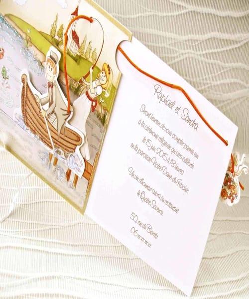 Invitatie de nunta cod 32405 din Catalogul Emma