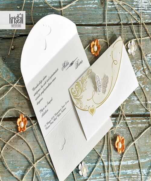 Invitatie de nunta cod 30042 din Catalogul Kristal Boutique