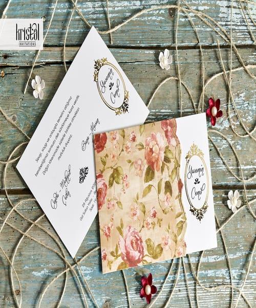 Invitatie de nunta cod 70251 din Catalogul Kristal Boutique