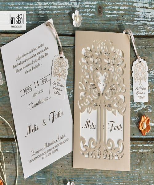 Invitatie de nunta cod 70325 din Catalogul Kristal Boutique