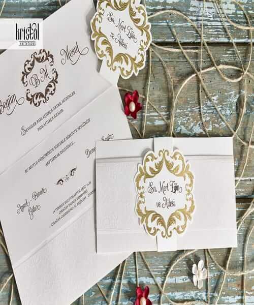 Invitatie de nunta cod 70336 din Catalogul Kristal Boutique