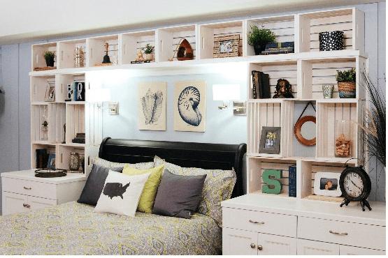 diy creer une tete de lit avec des caisses de bois headboard made of wood