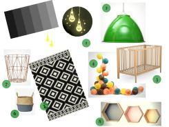 shopping déco idées chambre bébé unisexe colorée / nursery colors