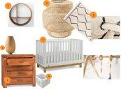 idées de décoration chambre bébé bois et blanc - shopping québec / nursery white and wood