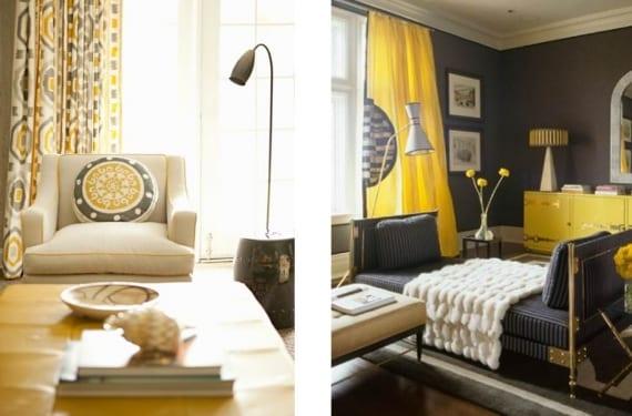 Decora tu hogar en una mezcla de gris y amarillo