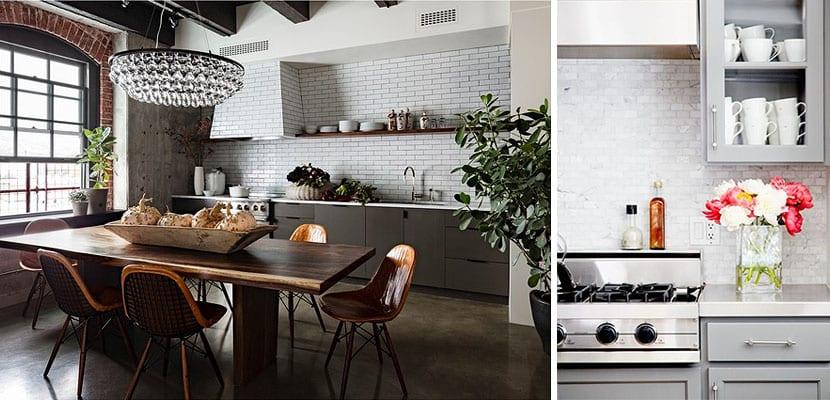 Muebles en tonos grises para decorar tu cocina