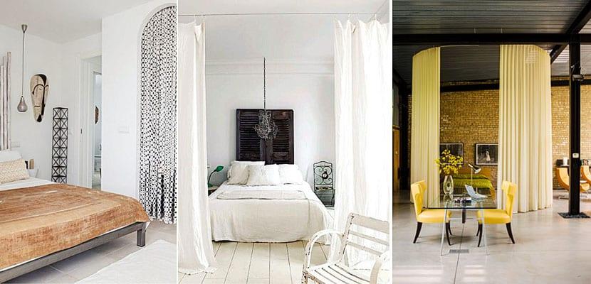 Utiliza cortinas para separar diferentes ambientes en tu hogar