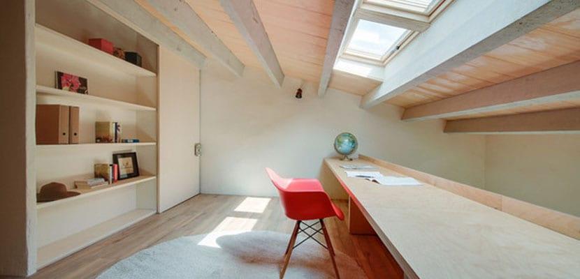 Techos con ventana para mayor iluminacin natural