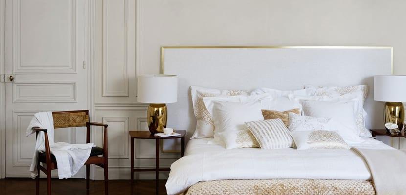 Decorar en blanco y dorado con Zara Home