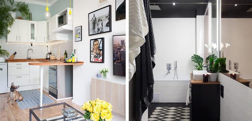 Casa moderna decorada con muebles de Ikea