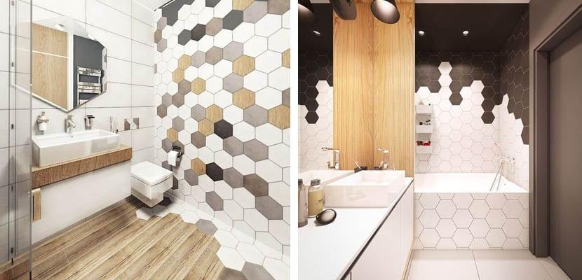 Decorar con azulejos hexagonales