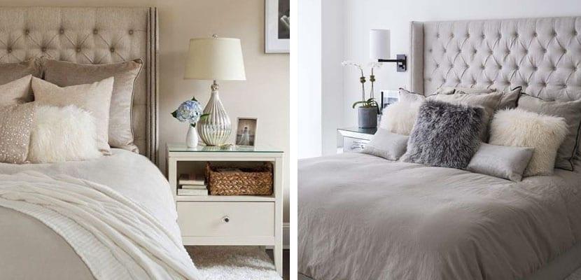 Decorar el dormitorio en color gris topo