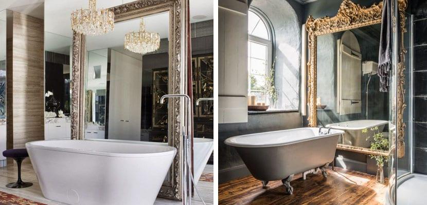 Cmo decorar el bao con espejos grandes
