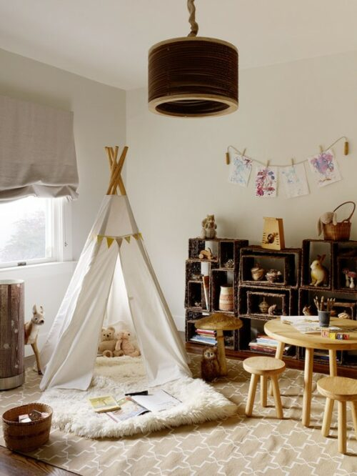 Ambientes que inspiran Un tipi en la habitacin infantil  DecoPeques