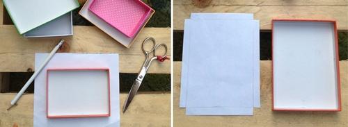 manualidad niños 14 DIY: Una estantería con tapas de cajas empapeladas by Terrón de Azúcar