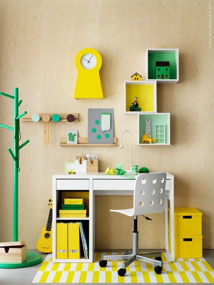 Escritorios infantiles con la mesa Micke de Ikea  DecoPeques