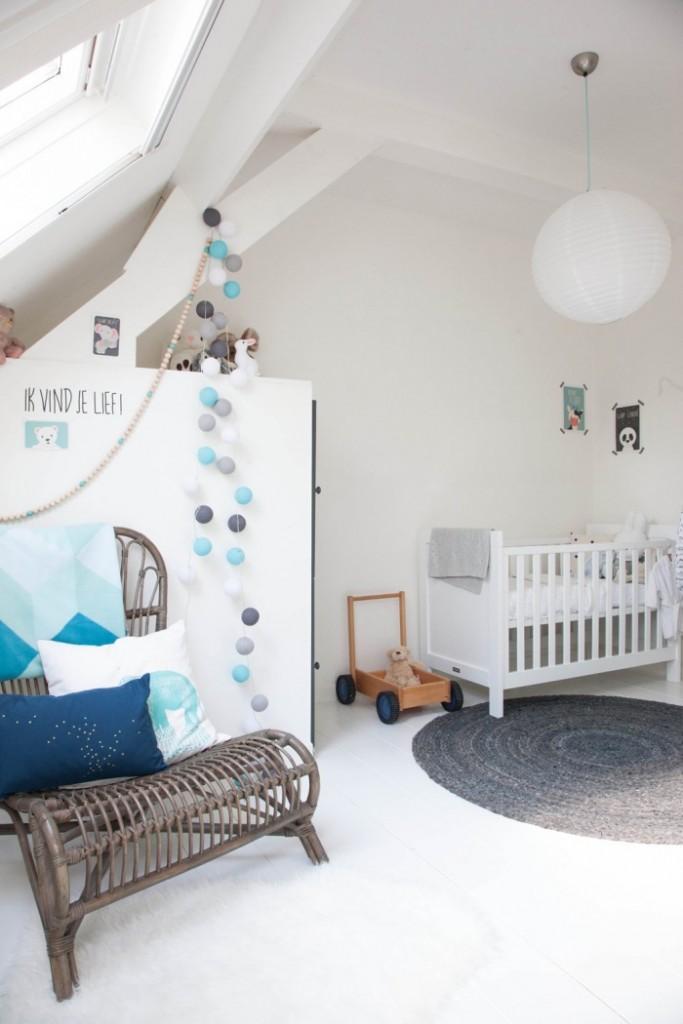 Habitacin de beb en estilo nrdico