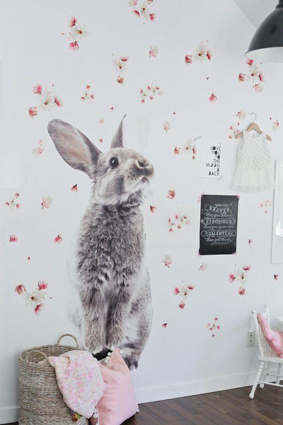 8 Conejitos en la habitacin del beb Por todas partes  DecoPeques