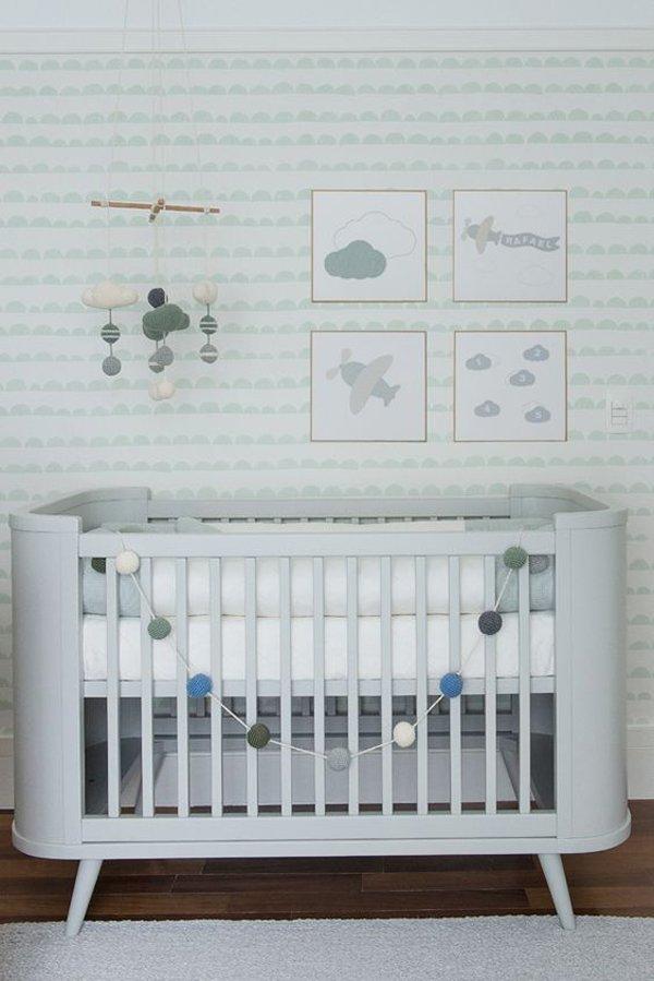 Habitaciones de beb en tonos verdes  DecoPeques
