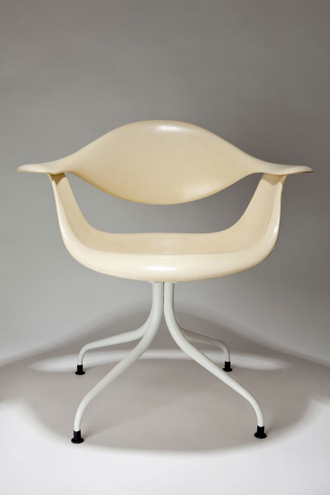 Pair George Nelson Swag Leg DAF Lounge Chair for Herman